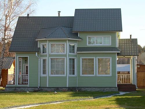 Отделка фасадов домов сайдингом фотоподборка